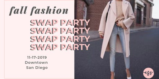 EAT SIP SWAP fashion exchange party