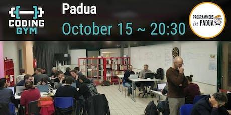 Coding Gym - Ottobre 2019 - Programmers in Padua biglietti