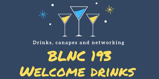 BLNC 193 Welcome Drinks