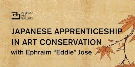 ArtSpeak: Japanese Apprenticeship in Art Conservation with Eddie Jose tickets