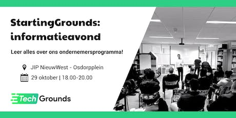 StartingGrounds: informatieavond tickets