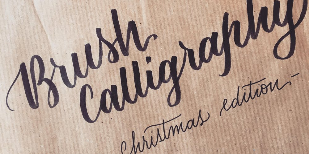 Christmas Calligraphy.Intro To Brush Calligraphy Christmas Edition