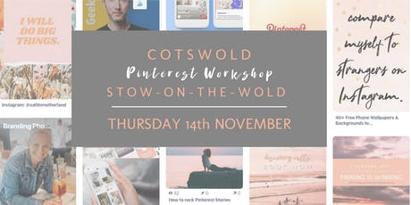 Pinterest Workshop, Stow on the Wold tickets