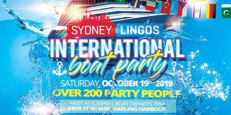 Sydney Lingos International Boat Party tickets