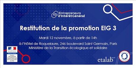 Entrepreneurs d'intérêt général : découvrez les réalisations de la promotion 3 ! billets