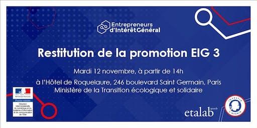Entrepreneurs d'intérêt général : découvrez les réalisations de la promotion 3 !