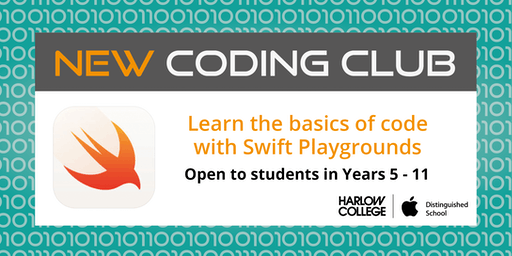 Harlow College Coding Club with Swift Playgrounds