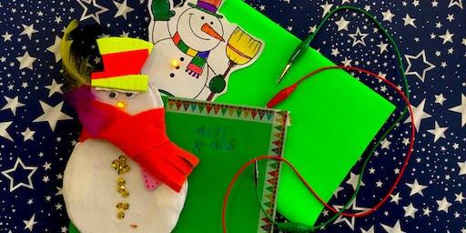Winter-Workshop: Leuchtende Weihnachtskarten