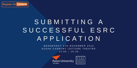 ESRC Event Part Two: Submitting a Successful ESRC Application tickets