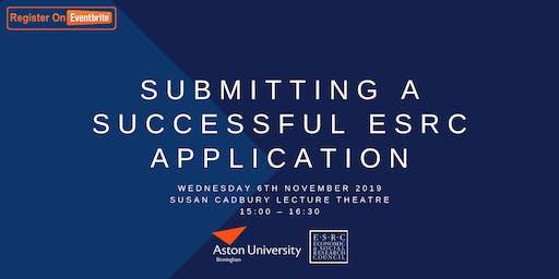 ESRC Event Part Two: Submitting a Successful ESRC Application