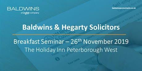Baldwins and Hegarty Solicitors Breakfast Seminar tickets