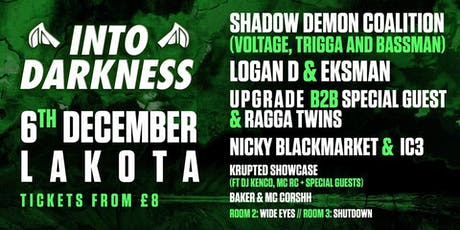 Into Darkness: SDC Logan D Upgrade Eksman IC3 Ragga Twins tickets