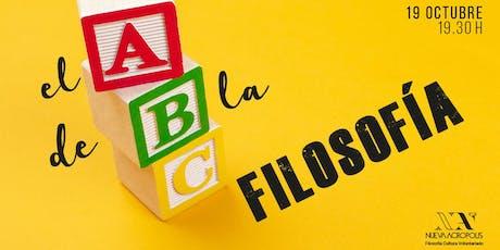 #Charla: EL ABC DE LA FILOSOFÍA entradas