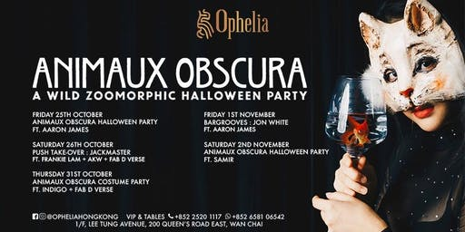 Ophelia Halloween Party 2019 : Animaux Obscura