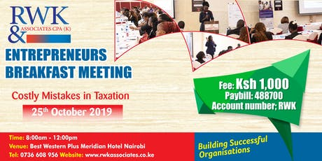 Costly Mistakes in Taxation tickets