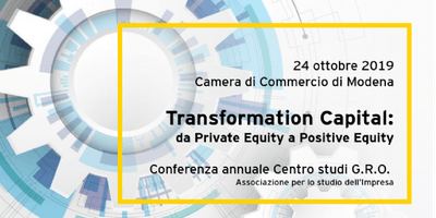 Transformation Capital - 6° Conferenza GRO - 24 ottobre, Modena