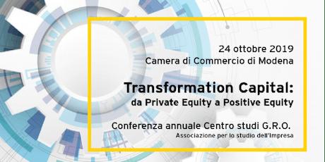 Transformation Capital - 6° Conferenza GRO - 24 ottobre, Modena biglietti