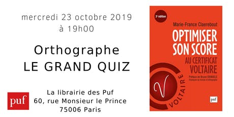 Orthographe - Le grand quiz billets