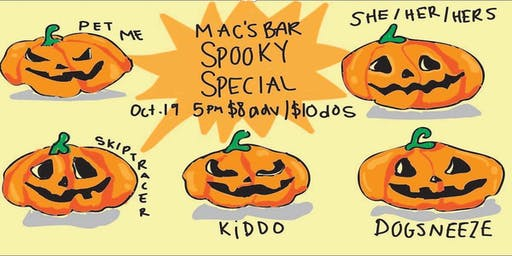 Mac's Bar Spooky Special