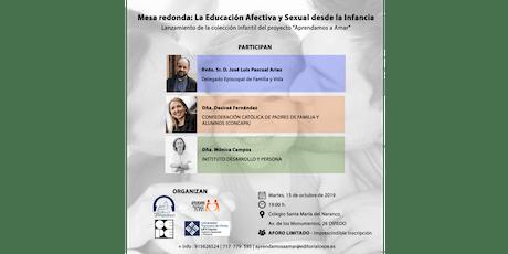 """Mesa Redonda """"La Educación Afectiva y Sexual desde la Infancia"""" entradas"""