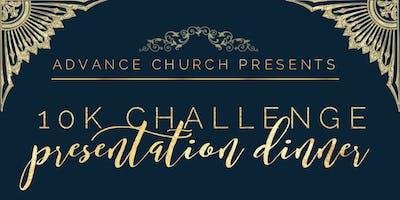 Advance Church presents 10k Challenge Dinner Presentation
