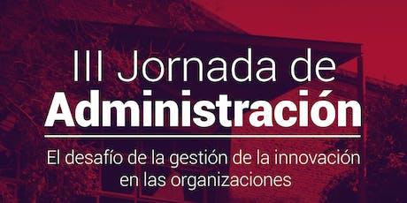 III Jornada de Administración - Universidad Nacional de Quilmes entradas