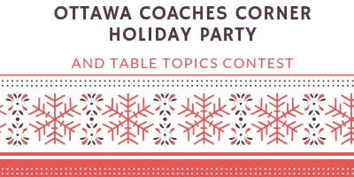 Ottawa Coaches Corner Charter Holiday Party