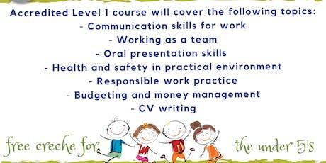 Level 1 Employability course - Woodlands Childrens Centre, Croydon Parents tickets
