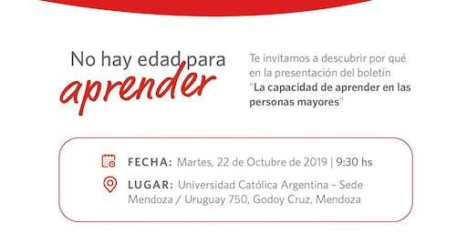 """Presentación Boletín N° 1 2019 """"La capacidad de aprender en las personas mayores"""""""