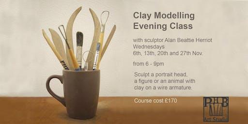 Clay Modelling Evening Class with Alan Beattie Herriot