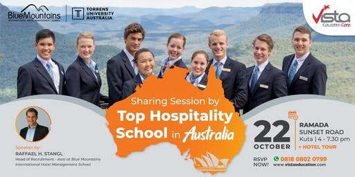 Free Sharing Session by TOP Hospitality School in Australia Denpasar