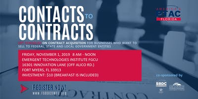 Contacts to Contracts: Strategies for Success with Government Contracting