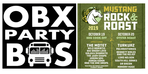 SATURDAY: OBX Party Bus Ride to Mustang Rock and Roast 2019
