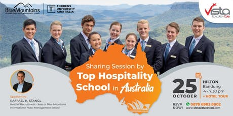 Free Sharing Session by TOP Hospitality School in Australia Bandung tickets