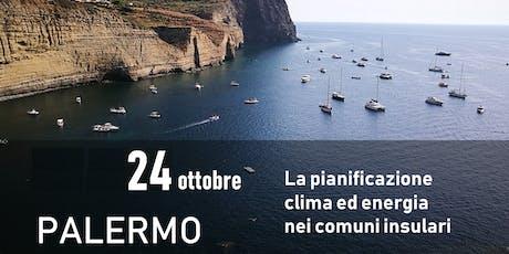 La pianificazione clima ed energia nei comuni insulari biglietti