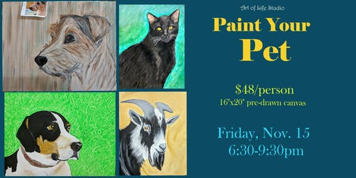 Paint Night: Paint Your Pet