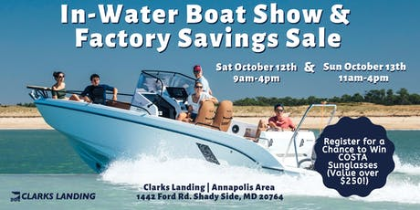 Register for the In-Water Boat Show & Factory Savings Sale!  tickets