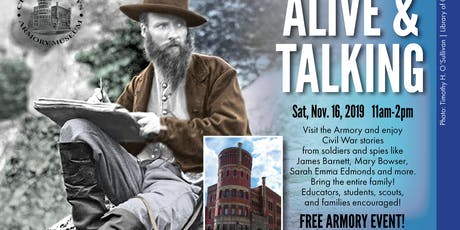Alive & Talking at the Armory—Free Living History Event tickets