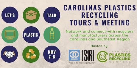 CPRC/ISRI Carolinas Plastics Recycling Tours and Meeting tickets