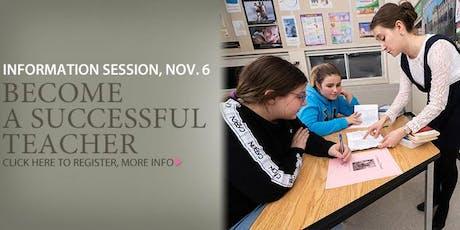 Pursue a successful career in teaching tickets