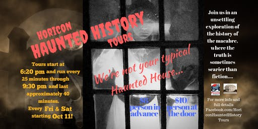 2019 Horicon Haunted History Tours