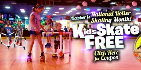 Kids Skate Free Saturday 10/19/19 at 12pm (with this ticket) tickets