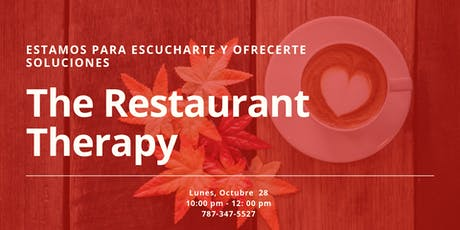 The Restaurant Therapy Octubre 2019  tickets