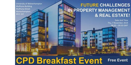 FUTURE CHALLENGES IN PROPERTY MANAGEMENT & REAL ESTATE! tickets