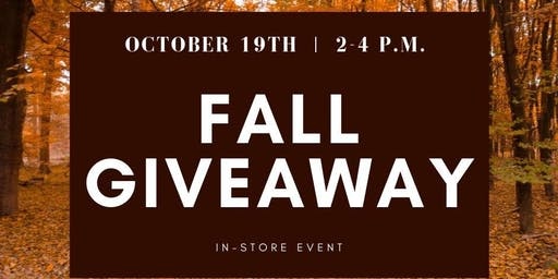 Fall Giveaway Event!