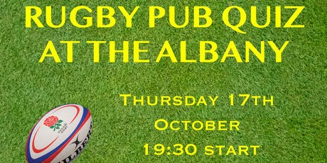 Rugby Pub Quiz tickets