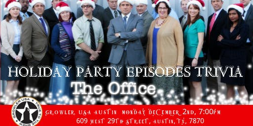 """The Office Trivia """"The Holiday Party Episodes"""" at Growler USA Austin"""
