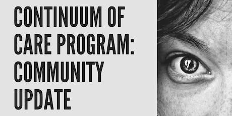 Anti-Human Trafficking Community Update; Continuum of Care Program tickets
