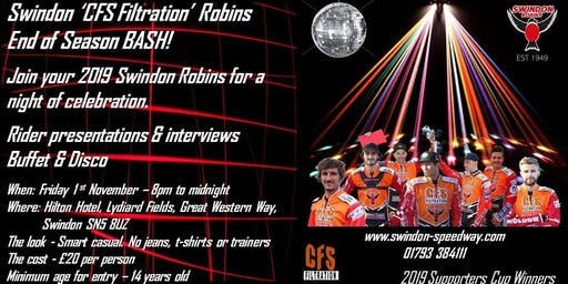 Swindon 'CFS Filtration' Robins' End of Season Bash