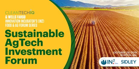 Sustainable AgTech Investment Forum tickets